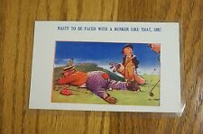 """Golf Comics Post card No 2011 """"Nasty to be faced with a bunker like that, Sir!"""""""
