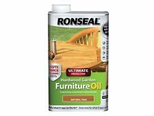 Ronseal-protection ultime bois dur meubles de jardin huile naturelle en teck 1 litre