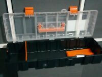 Caja de herramientas Baguette vacia con separadores ajustables 45 x 15 cms aprox