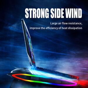 12-17'' RGB Gaming Radiating Air Flow Cooling Cooler Holder Pad Stand Adjustable