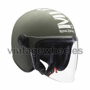 For - Royal Enfield MLG Long Visor Helmet - Battle Green