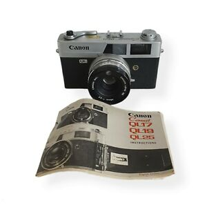 Vintage Canon Canonet QL25 35mm Film Camera with Instructions/Guide - Untested