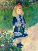 Renoir 1876, A Girl with a Watering Can, Fade Resistant HD Art Print or Canvas