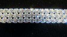 19ss 3 row Czech Rhinestone Banding Dance Costumes  Sold By the Yard (G-30)