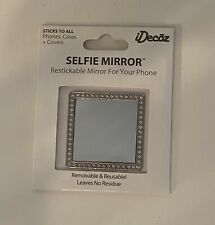 iDecoz New Silver Selfie Mirror Restickable To Any Cell Phone