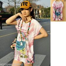 europeanbrand Loose Top Blouse T Shirt Kaftan Mini Dress Size UK14 womens very