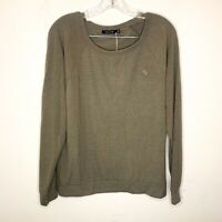 Obey Sweater Eastholme Raglan Army Soft Solid Pullover Men's Small NWT