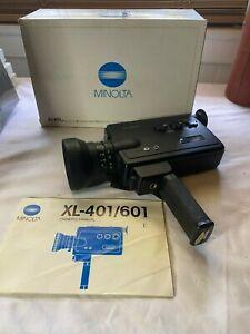 MINOLTA XL601 Super 8 Movie Camera Fully Working TESTED MINT Original Box
