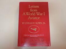 Letters from a World War I Aviator HBDJ 1986 A.E.F. Josiah P. Rowe, Jr