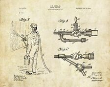 House Painter Patent Art Print Paint Sprayer Contractor Supplies Office Decor