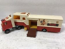 Majorette Die Cast Metal and Plastic Tractor Trailer Rodeo Texas Truck -France