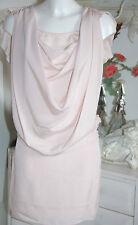 Axara Dress Kleid Wasserfall  Kurzarm Rose  Size: L Neu