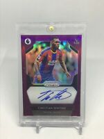 2019-20 Panini Prizm Premier League Signatures Purple /99 Christian Benteke Auto