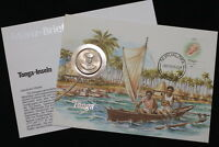 TONGA 20 SENITI 1981 COIN COVER A98 WWF163