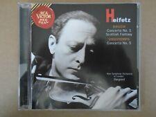 HEIFETZ - Bruch Concerto No. 1 , Scottish Fantasy , Vieuxtemps - Sargent  CD