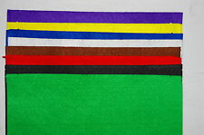 Felt sheets mixed colours approx 300mm x 190mm acrylic 8 pieces