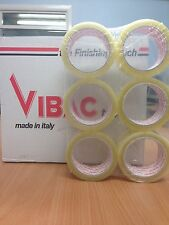 36 ROLLS VIBAC CLEAR PACKAGING / PACKING TAPE 48MM X 66M FREE 24HR DEL