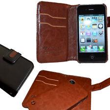 iPhone 4/4S Brieftasche 2 Handy Tasche Case Cover Etui Schutz Hülle Handytaschen