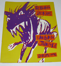 ROLLING STONES Urban Jungle Europe Tour 1990 PROGRAMME