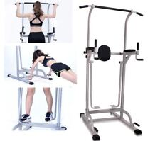 Pull Up Dip Bar Station and Air Walker Trainer Exercise Burn Calories Fitness
