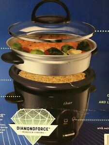 Oster 6 Cup Electric Rice & Grain Cooker Non-Stick Auto Keep Warm Steam Veggies