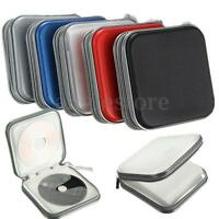40 Disc Double-side CD DVD Storage Case Organizer Holder Hard Wallet Album  USA