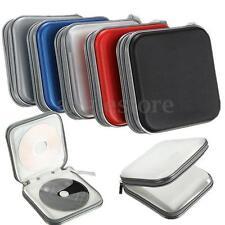 40 Disc Double-side CD DVD Storage Case Organizer Holder Hard Wallet Album  USA