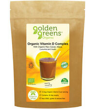 Golden Greens® Organic Vitamin D Complex 500iu Vegan - A Superfood with Passion™
