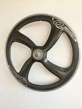 Vintage Four-spoke Quasar Campagnolo  Carbon Road Bike Rear Wheel 700c