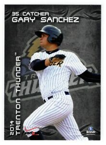 GARY SANCHEZ MINORS PRE ROOKIE 2014 BRANDT TRENTON THUNDER #22