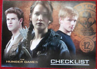 THE HUNGER GAMES - Indvidual Base Card #72 - Checklist