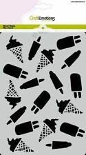 Flex-Schablone Stencil Summer Fun Eis Ice Cream Sommer CraftEmotion 185070/1277