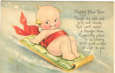 ROSE O'NEILL signed KEWPIE Happy New Year 1918 Gibson Art