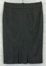 DEBENHAMS Womens Grey Pencil Skirt Size 12
