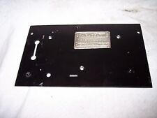 COLUMBIA MODEL A PHONOGRAPH BED PLATE WITH THE ID PLATE
