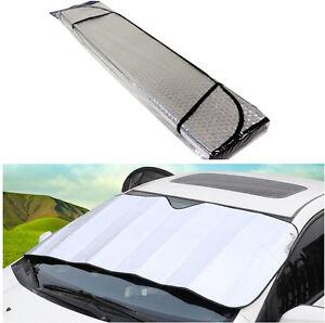 Silver Foldable Sun Shade Windshield Sun Visor Cover Anti-UV Protection 130*60cm