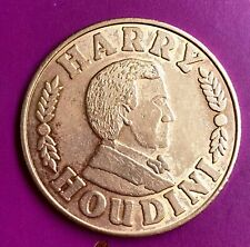 Harry Houdini Coin ~ commemorative copper token ~ Ehrich Weiss ~ 1874 - 1926