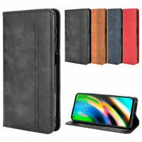For Motorola MOTO G Stylus (2021) Magnetic Leather Wallet Card Flip Case Cover