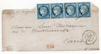 1873 FRANCE OFFICES IN SPAIN ANTILLES, A UNIQUE ITEM,CALVES GUARANTEE