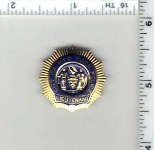 Lieutenant Police 1-inch Mini Pin