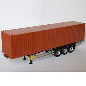 Semi-remorque porte-container 1/43 neutre brun - Eligor