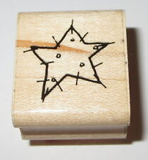 Star DOTS Rubber Stamp New NOS Wood Mounted Polka Celestial