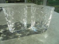 """Set of 2 High Quality Crystal Double Old Fashioned 3 5/8"""" Tall"""