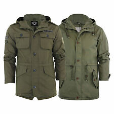 Mens Hooded Parka MOD Brave Soul Puzzlebadge Military Jacket Coat