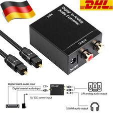 Digital zu Analog Audio Konverter Toslink-Cinch Adapter optische koaxiale