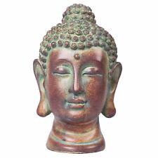 Evre Buddha Head Statue for Indoor / Outdoor Home Decor Bronze Stone Effect 20cm