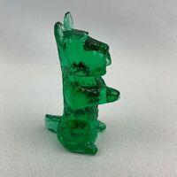 Boyd Art Glass Mac the Begging Scottie Dog - St. Patty's Green