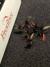 Fly Fishing Flies Black Gnat Red Tail Frontier Fly Co