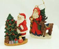Vintage Santa Christmas Ornament Holiday Tree Decoration Lot