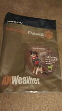ANCOL MUDDY PAWS Combination Sweater & Raincoat - Small 30cm DOG COAT
